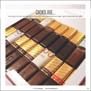 Chokolade-sedler sjov pengegave fra Tina Dalboges e-bog Personlige pengegaver