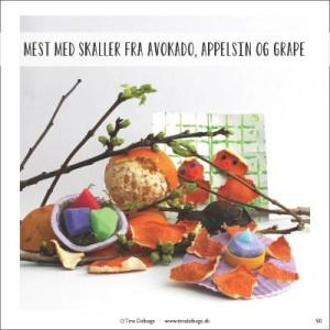 Kreativ med skaller fra advokado, appelsin og grape fra Tina Dalboges e-bog Smaa kreative pilfingre - paaske