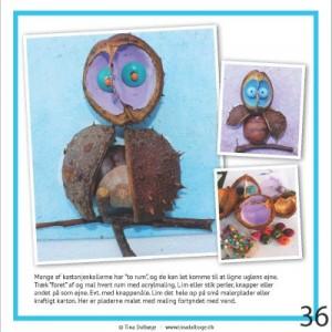 Ugle fra Tina Dalboges e-bog Kreative kastanjer
