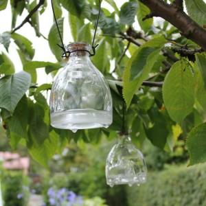 flasker til hvepsefanger i glas fra Kreahobshop.dk