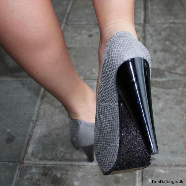 DIY høje sko med glitter