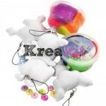 Kreakit - Ugly Monster, materialer til 4 figurer med Foam Clay, 1 sæt