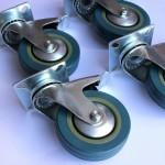4 stk. Møbelhjul med bremse højde 13 cm