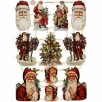 Glansbilleder, 16,5x23,5 cm, jul, 3 ark