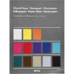 Glanspapir - sortiment, 24x32 cm, 50 ass. ark