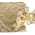 Bladmetal, 16x16 cm, guld, 25 ark