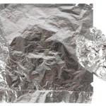Bladmetal, 16x16 cm, sølv, 25 ark