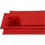 Harmonikapapir, 28x17,8 cm, rød, 8 ark