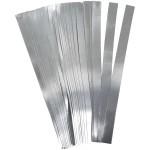 Stjernestrimler, 10 mm, sølv, 100 stk.
