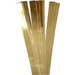 Stjernestrimler, 25 mm, guld, 100 stk.
