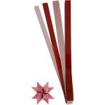 Stjernestrimler, glitter og lak, 15+25 mm, rød, 40 ass.