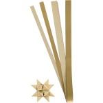 Stjernestrimler, glitter og lak,15+25 mm, guld, 40 ass.
