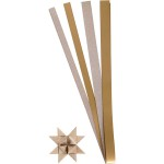 Stjernestrimler, glitter og lak,15+25 mm, kobber, 40 ass.