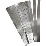 Stjernestrimler, 15 mm, sølv, 100 stk.