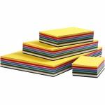 Creativ karton, A2+A3+A4+A5+A6 , ass. farver, 1800 ass. ark