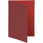 Brevkort, 10,5x15 cm, vinrød/rød, 10 stk.
