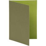 Brevkort, 10,5x15 cm, lime/mørk grøn, 10 stk.