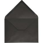 Kuvert, 11,5x16 cm, sort, 10 stk.