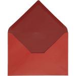 Kuvert, 11,5x16 cm, rød/vinrød, 10 stk.