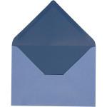 Kuvert, 11,5x16 cm, lys blå/mørk blå, 10 stk.