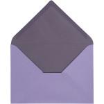 Kuvert, 11,5x16 cm, mørk lilla/lilla, 10 stk.