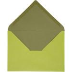 Kuvert, 11,5x16 cm, mørk grøn/lime, 10 stk.