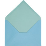 Kuvert, 11,5x16 cm, lys turkis/mørk turkis, 10 stk.