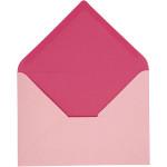 Kuvert, 11,5x16 cm, rosa/pink, 10 stk.