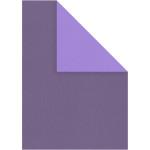 Strukturkarton, 21x30 cm, lilla/mørk lilla, 10 ark