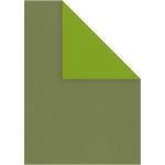 Strukturkarton, 21x30 cm, lime/mørk grøn, 10 ark