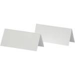 Bordkort, 9x4 cm, hvid, 25 stk.