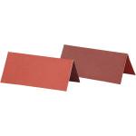 Bordkort, 9x4 cm, rød/vinrød, 25 stk.
