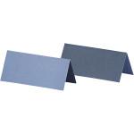 Bordkort, 9x4 cm, lys blå/mørk blå, 25 stk.
