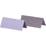 Bordkort, 9x4 cm, mørk lilla/lilla, 25 stk.