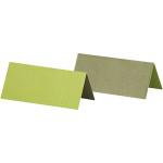 Bordkort, 9x4 cm, mørk grøn/lime, 25 stk.
