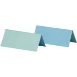 Bordkort, 9x4 cm, lys turkis/mørk turkis, 25 stk.