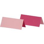 Bordkort, 9x4 cm, rosa/pink, 25 stk.