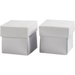 Fold-selv-æske, 5,5x5,5 cm, hvid, 10 stk.