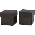 Fold-selv-æske, 5,5x5,5 cm, sort, 10 stk.