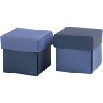 Fold-selv-æske, 5,5x5,5 cm, lys blå/mørk blå, 10 stk.