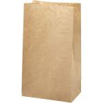 Papirspose, bund 15x9 H. 27 cm, brun, 100 stk.