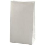Papirspose, bund: 15x9 H. 27 cm, hvid, 100 stk.