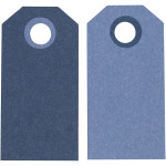 Manillamærker, 6x3 cm, mørk blå/lys blå, 20 stk.