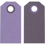Manillamærker, 6x3 cm, lilla/mørk lilla, 20 stk.