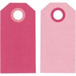 Manillamærker, 6x3 cm, pink/rosa, 20 stk.