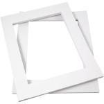 Passepartoutrammer , 40x50 cm, hvid, A3, 100 stk.