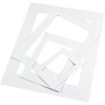 Passepartoutrammer, 400 stk. 100 stk. af hver str: A3, A4, A5, A6