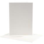 Brevkort, 12,5x17,5 cm, off-white, 10 sæt