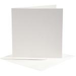 Brevkort, 12,5x12,5 cm, off-white, 10 sæt