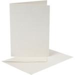 Perlemorskort, 10,5x15 cm, creme, 10 sæt